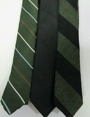 1960s – 70s Men's Ties | Skinny Ties, Slim Ties 3 Vintage Skinny Neckties 1960s Lord & Taylor, Gimbels labels Green Black  $21.00 AT vintagedancer.com