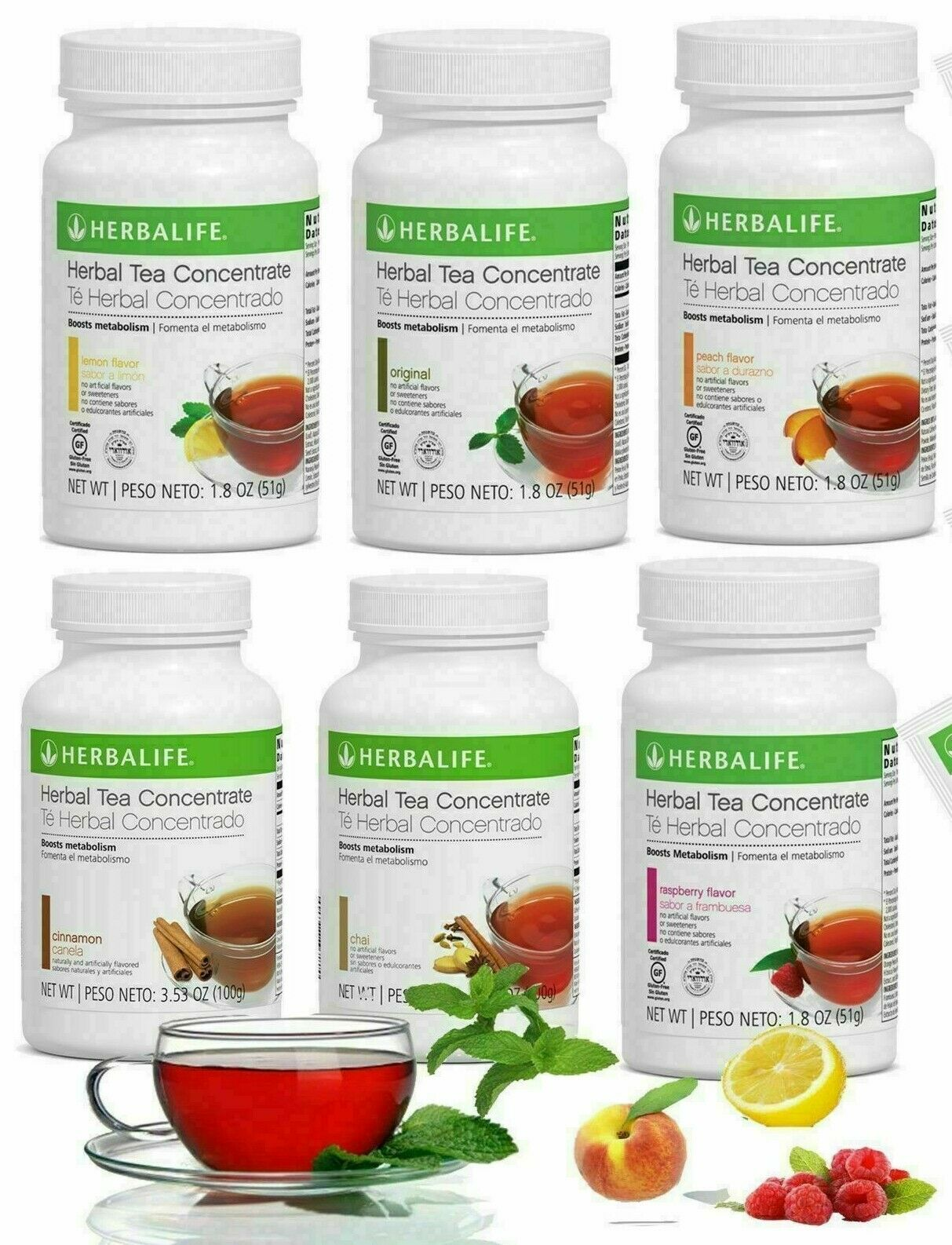 HERBALIFE Herbal Tea Concentrate Boost Energy All Flavors and Size FREE SHIPPING