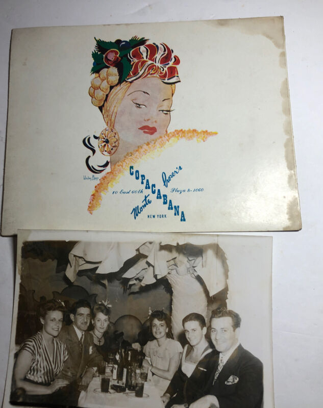 1940s Souvenir Photo in Holder Monte Proser