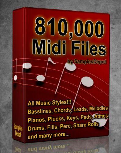 810,000 Midi Pack Collection 2021 FL Studio, Reason, Ableton Cubase Acid Logic