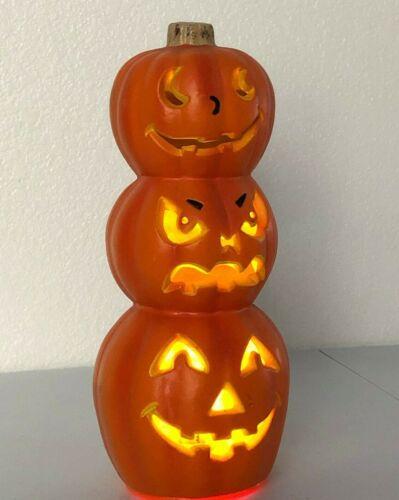 Halloween Paper Magic Group Light-Up Jack O Lantern Stacked Pumpkins Decor 1998