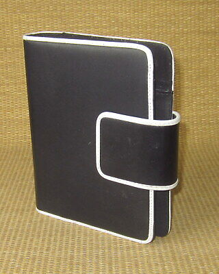 Compact Franklin Covey Blackwhite Sim. Leather 1 Rings Open Plannerbinder