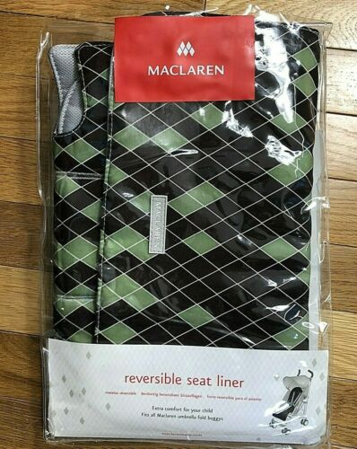 Maclaren Reversible Seat Liner Fits All Umbrella Fold Buggy Strollers Unisex NEW