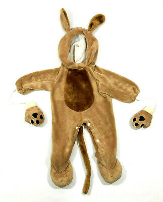 Puppy Dog Toddler Brown Halloween Costume Suit Size 6-12 months - Dog Costume Toddler