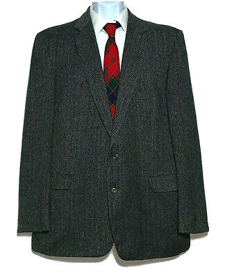 Kevin & Howlin Irish Donegal Tweed Sport Coat 46L Cashmere Mohair Wool 2 Button