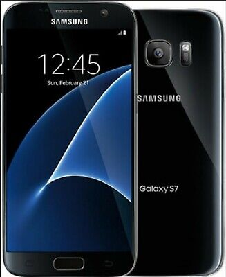 PRISTINE SAMSUNG GALAXY S7 G930 32GB UNLOCKED BLACK 4G PHONE