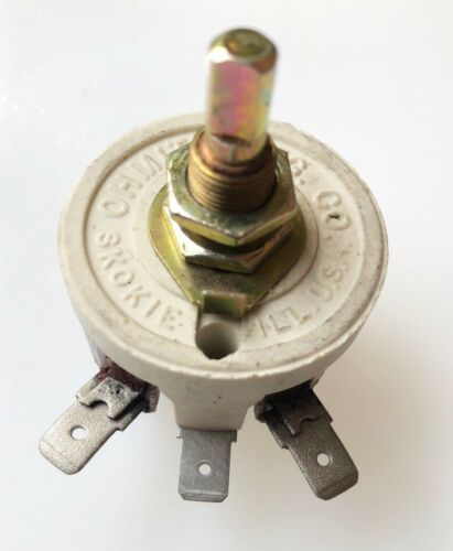 Miller OEM 186207 16 Ohm 1.25 Amp OHMITE Rheostat 186-207 Var Power Resistor