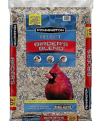 Pennington Select Birder's Blend Wild Bird Feed and Seed, 40 lbs