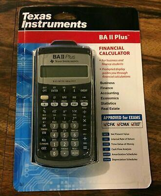 New Texas Instruments BA II Plus Financial Calculator CFA Exam Approved