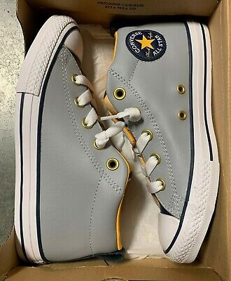 Converse Chuck Taylor All Star Street Mid Kid's Shoes;Color: Grey, Yellow|DMG BX