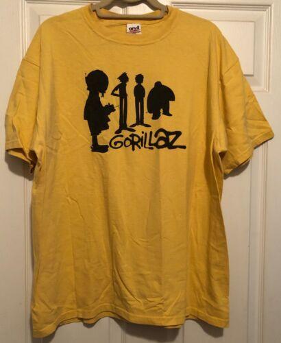 Gorillaz RARE concert t-shirt (yellow)