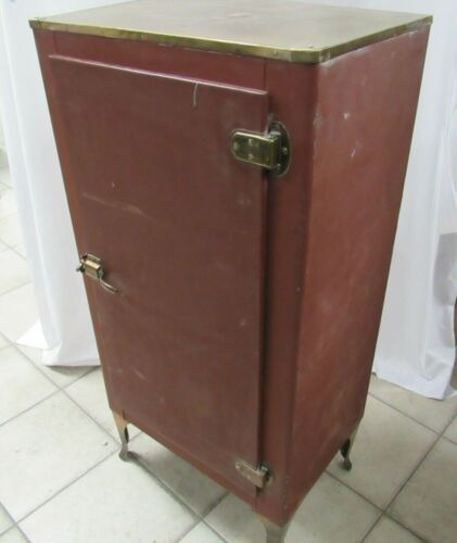 Antique Vintage Metal & Wood Ice Box - Rustic Home Decor - PHX LOCAL PICKUP ONLY