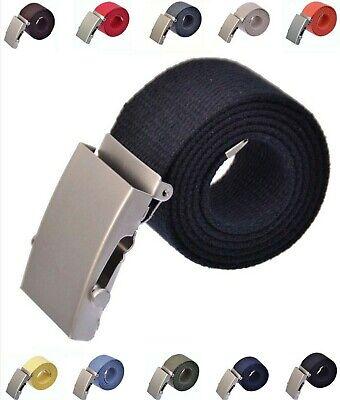 Stoffgürtel 100-150 cm Canvas Belt Jeans Gürtel schiebe schnalle 4 cm Breit