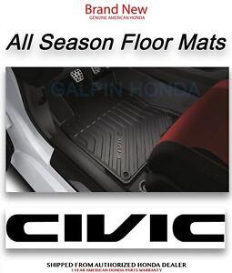 Genuine OEM Honda Civic 4dr All Season Floor Mat Set Mat 2016-2018 08P17-TBA-100