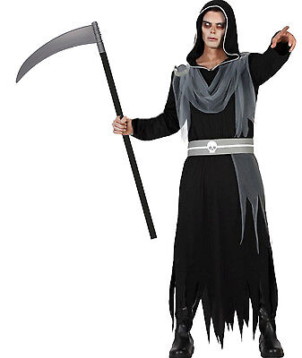 Kostüm Herr der Finsternis S-M/L-XL Sense 1,10 m - Der Sensenmann Halloween Kostüm