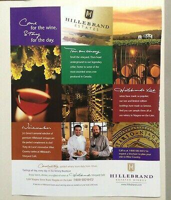Hillebrand Estates Winery Alcohol Advertisement Vintage 2000