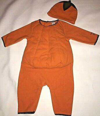 Baby Gap Pumpkin Halloween Costume Infant Girl Boy Size 6-12 M Fleece Outfit - Baby Pumpkin