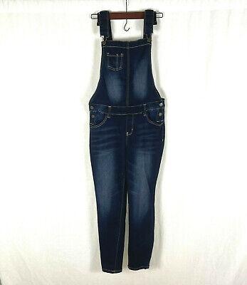Vintage Overalls & Jumpsuits Wallflower Womens Blue Denim Bib Overalls Adjustable Straps Size Large Stretch $28.66 AT vintagedancer.com
