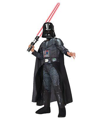 Darth Vader Childrens Costume (Star Wars DARTH VADER Halloween Costume Child Boy Kids Youth S M)