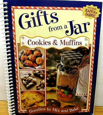 Gifts From A Jar Cookies Brownies Goodies Mix Give Bake w Fabric Jar Tops & Ties Food Gifts Soup