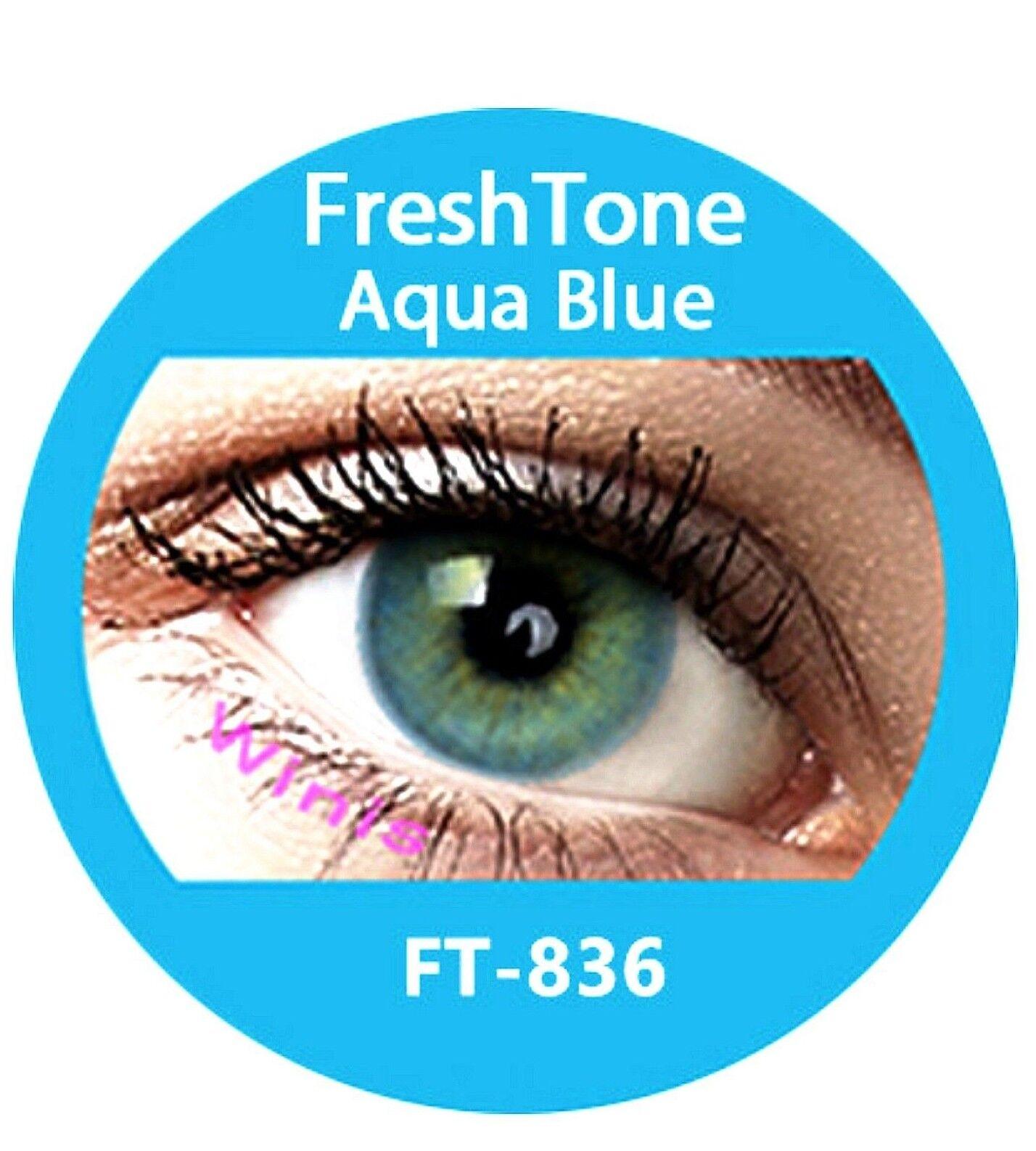 Freshtone Supernaturals Aqua Blue farbige Kontaktlinsen 3 Monatslinsen blau grün