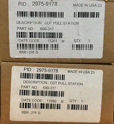 Lot Of 2 Simplex 2975-9178 Cdt Pull Station Back Box