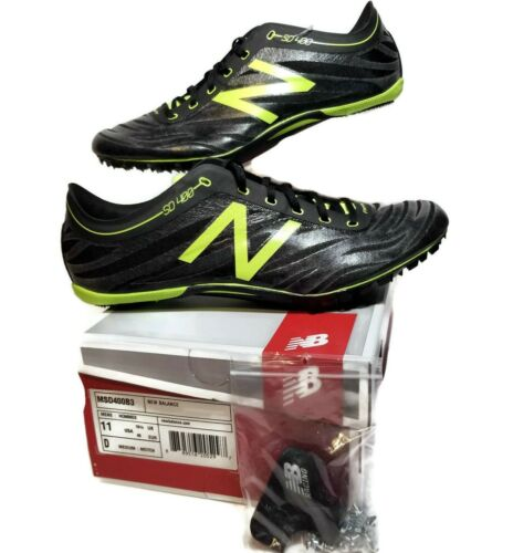 New Balance Sprinter Mens 11 Track Spikes Running Shoes Black Green MSD400B3  S1