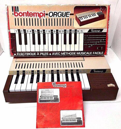 Vintage Bontempi 25 Keys Organ Instrument + Music Book 1979  - SEE DEMO VIDEO!