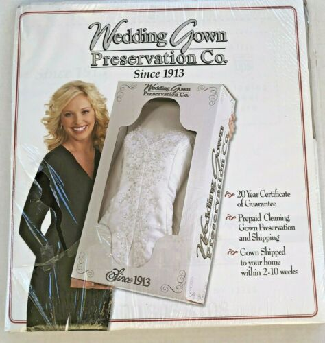 Wedding Gown Preservation Co Prepaid Cleaning/Shipping Service Box Dress Tuxedo