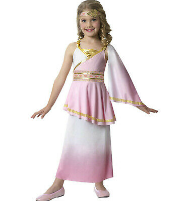 Pink & Gold Goddess Costume S small 4-6 Greek Venus Godess Kids Child Halloween