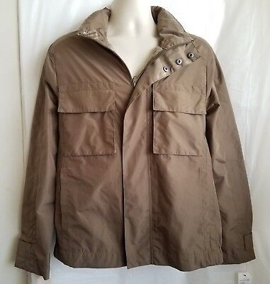Andrew Marc New York Mens Field Jacket Polyester Fashion Size M Brown E11