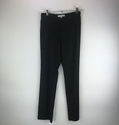 TRINA TURK Black Flat Front Acetate Straight Career Business Trousers Pants Sz 4 Acetate Flat Front Pants