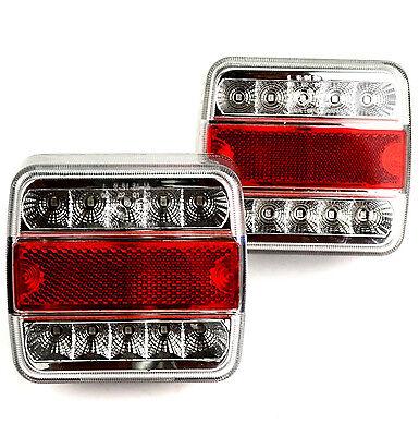 2 x E4 LED Anhänger Rücklicht Rückleuchten  Licht Leuchte Anhängerbeleuchtung s1