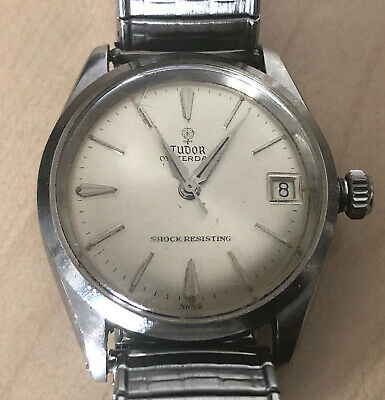 VINTAGE ROLEX TUDOR OYSTER DATE STAINLESS STEEL MENS WRISTWATCH
