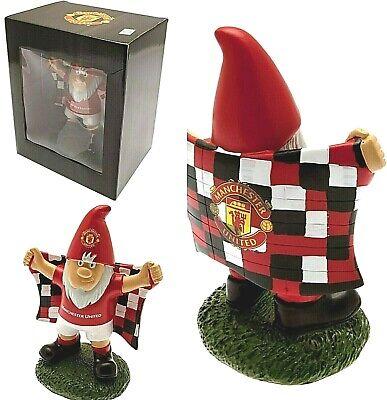 MANCHESTER UNITED FC GARDEN GNOME FOOTBALL CLUB FLAG GIFT BOX NOVELTY (Fc Garden Gnome)