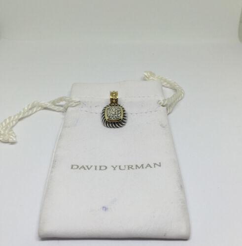David Yurman Sterling Silver 18k Gold Diamond Albion Enhancer Pendant