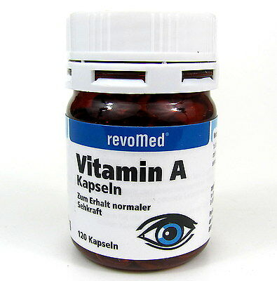 Vitamin A 120 Kapseln von revomed Vitamin-A-Tabletten Retinylpalmitat