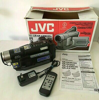 Jvc Compact Vhs Camcorder Case Battery Charger