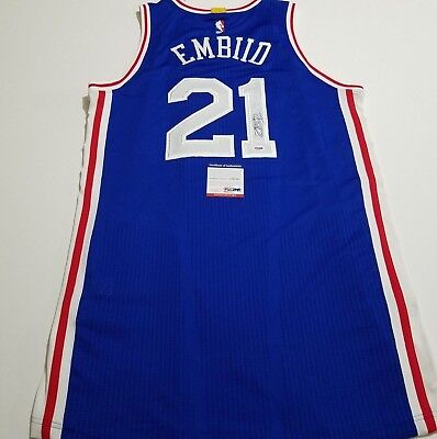 b72b65ecb46 Joel Embiid signed authentic Rev 30 jersey PSA DNA Sixers autographed 76ers