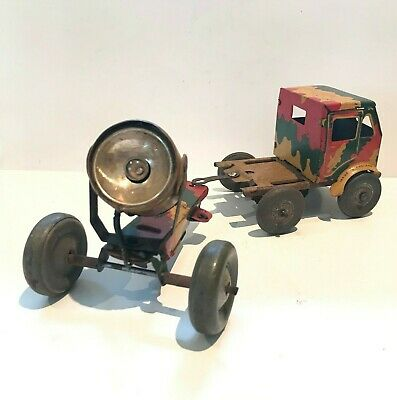 🚚💡 Rare 1940s METTOY MILITARY PRIME MOVER w/ ANTI AIRCRAFT SEARCHLIGHT Working