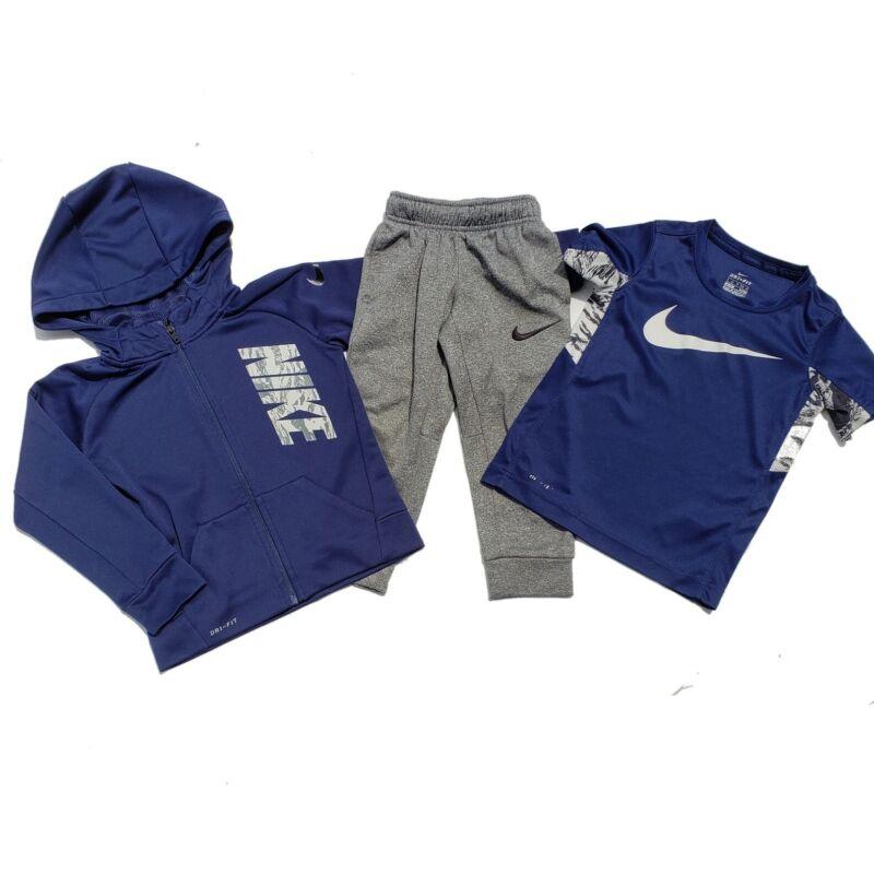 Boys Nike Pants Shirt Sweatshirt Lot Size XS 4 Athletic Dri Fit Joggers Hood Zip