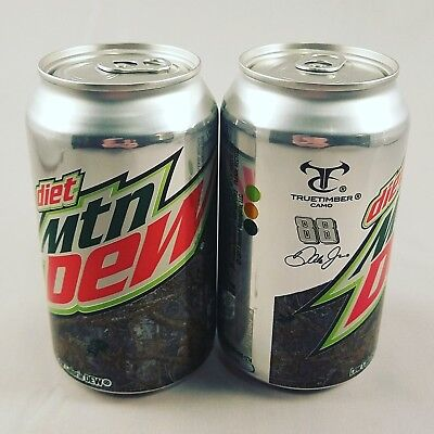 Set of 2 Diet Mountain Dew Truetimber Camo Dale Jr. 88 Cans - 12 oz each - Full