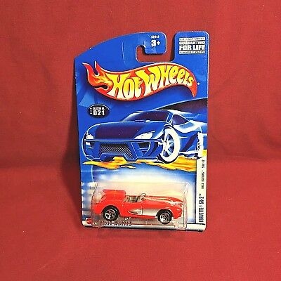 2002 Hot Wheels CORVETTE SR-2 Red Convertible Car 021 First Editions