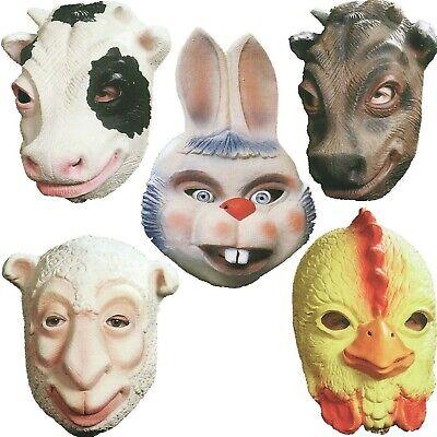 Erwachsenen Tier Halbmaske Zoo Tiere Haustier Hase Kuh Gockel Schaaf Ochse Maske