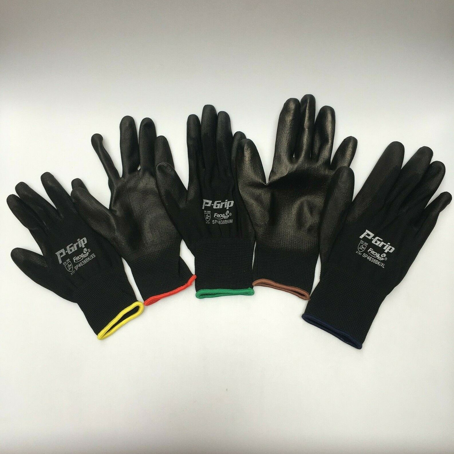 12 pairs LIBERTY P-GRIP WORK GLOVES BLACK PU FREE ship POLYU
