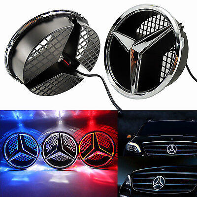 Sport Front Grille Star Emblem For Mercedes Benz 2006-2013 Illuminated LED Light