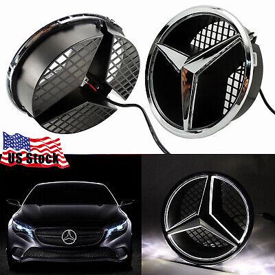 Led Car Front Grille Star Emblem Lights For Mercedes Benz 2006-2013 Illuminated