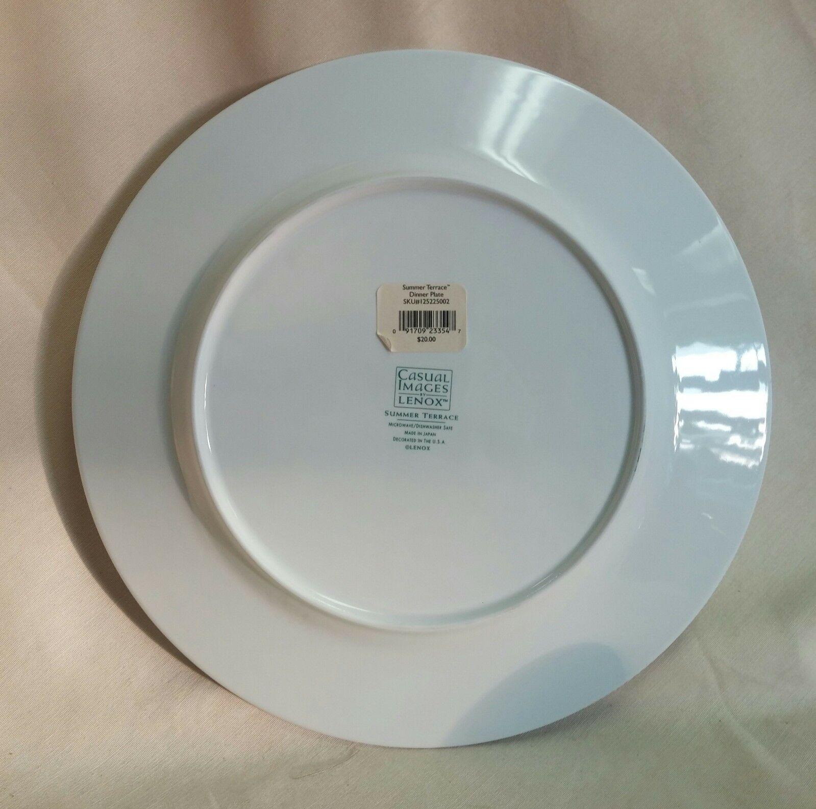 LENOX SUMMER TERRACE Dinner, Salad, Cereal Bowl, Cup Saucer, Mug - $129.95