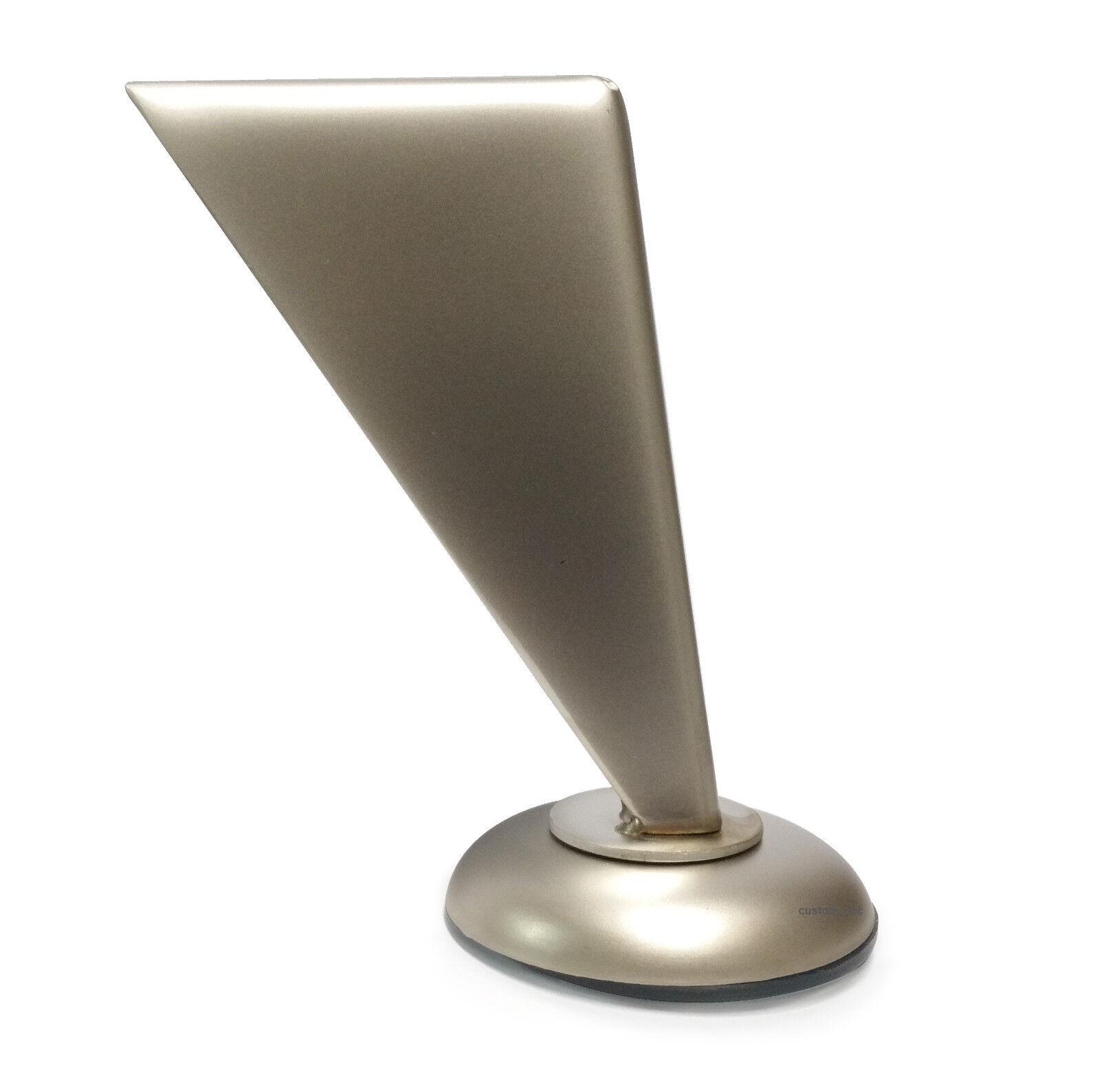 4.5″ Brushed Nickel Metal Straight Slanted Furniture Legs – Set of 4 Furniture