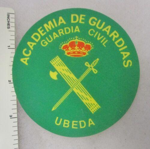 SPANISH POLICE CIVIL GUARD PATCH Vinyl ACADEMIA DE GUARDIAS Vintage SPAIN